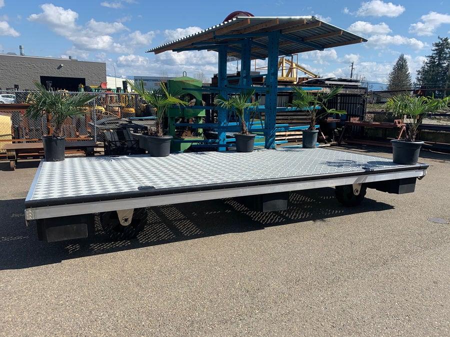 Metal Fabricated Rolling Platform