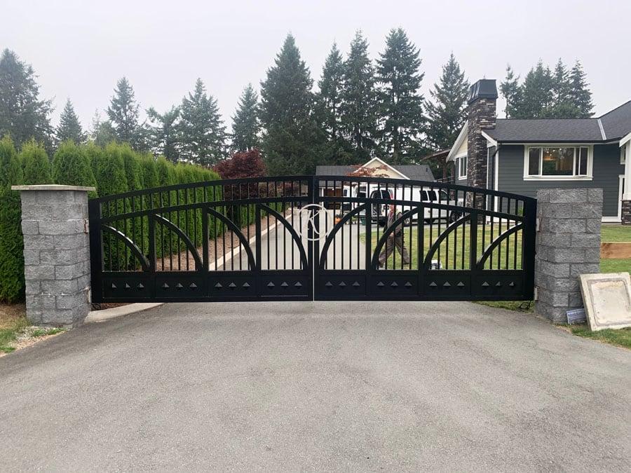 Custom Metal Fabricated Driveway Entry Gate